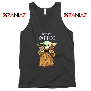 Mandalorian Coffee Baby Yoda Tank Top