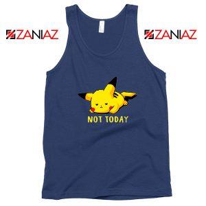Pikachu Not Today Navy Blue Tank Top