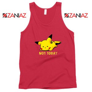 Pikachu Not Today Red Tank Top