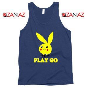 Play Go Pikachu Navy Blue White Tank Top