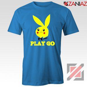 Play Go Pikachu Playboy Blue Tshirt