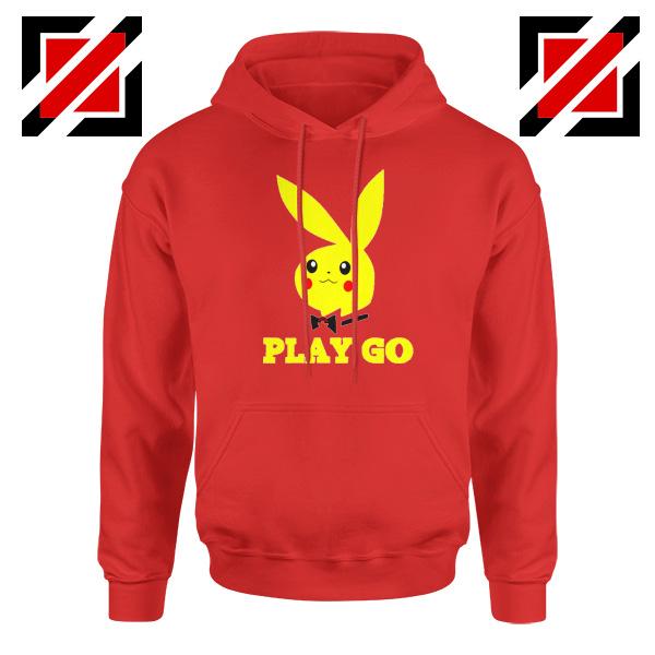 Play Go Pikachu Playboy Red Hoodie