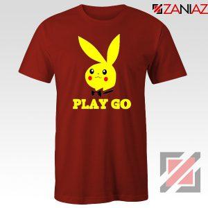 Play Go Pikachu Playboy Red Tshirt