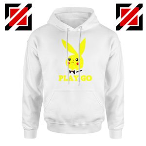 Play Go Pikachu Playboy White Hoodie
