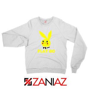 Play Go Pikachu Playboy White Sweatshirt