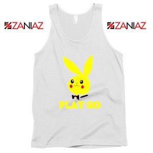 Play Go Pikachu Playboy White Tank Top