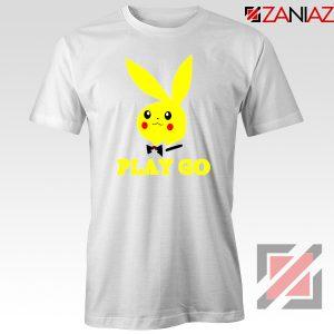 Play Go Pikachu Playboy White Tshirt