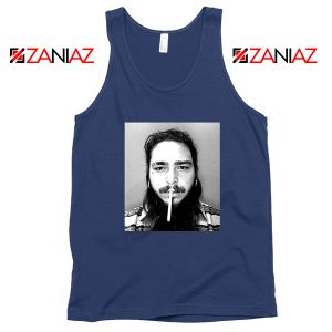 Post Malone Cigarette Navy Tank Top