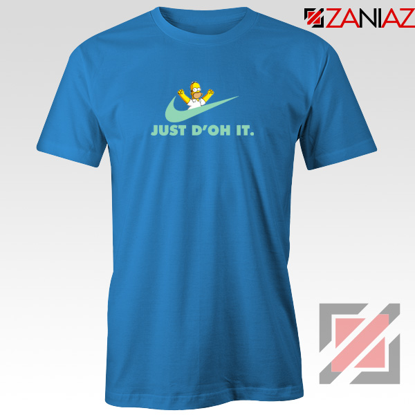 Simpson Just Do It Blue Tshirt