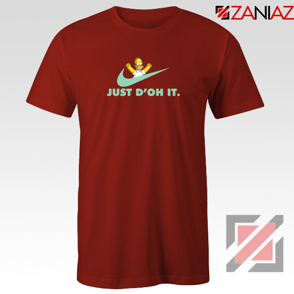 Simpson Just Do It Red Tshirt
