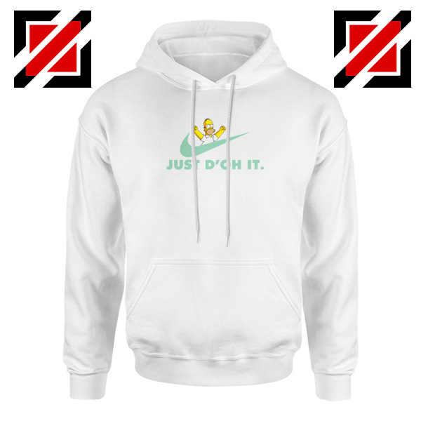 Simpson Just Do It White Hoodie