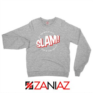 Slam Let The Boys Be Boys Sport Grey Sweater