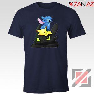 Stitch Pokemon Grinch Navy Blue Tshirt