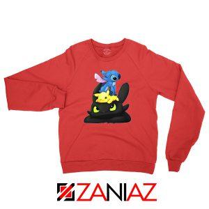 Stitch Pokemon Grinch Red Sweatshirt