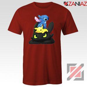 Stitch Pokemon Grinch Red Tshirt