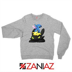 Stitch Pokemon Grinch Sport Grey Sweatshirt