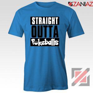Straight Outta Pokeballs Blue Tshirt