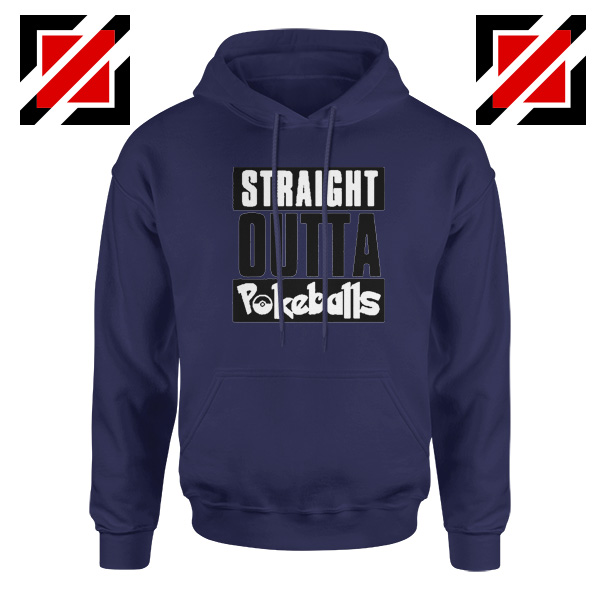 Straight Outta Pokeballs Navy Blue Hoodie