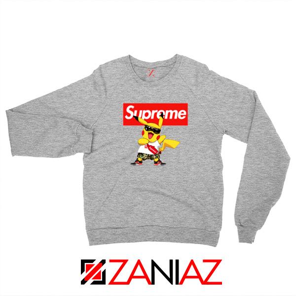 Supreme Pokemon Sport Grey Sweatshirt