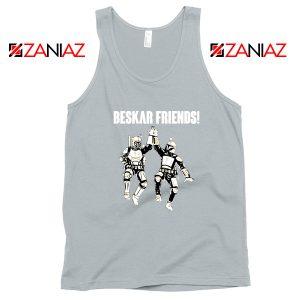 The Mandalorian Beskar Friends Sport Grey Tank Top