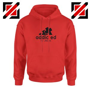 Addicted To Jesus Red Hoodie