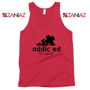Addicted To Jesus Red Tank Top