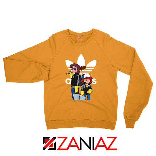 Adidas Parody Stranger Things Orange Sweatshirt