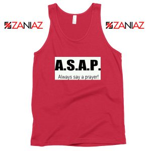 Always Say A Prayer Red Tank Top