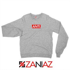 Anti Rihanna Albumn Sport Grey Sweater