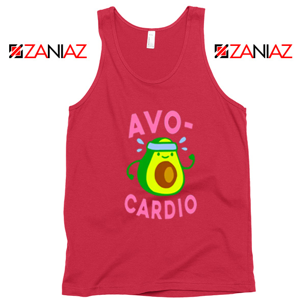 Avocardio Exercise Red Tank Top