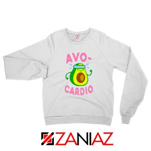 Avocardio Exercise White Sweatshirt
