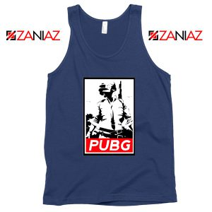 Best PUBG Printed Navy Blue Tank Top