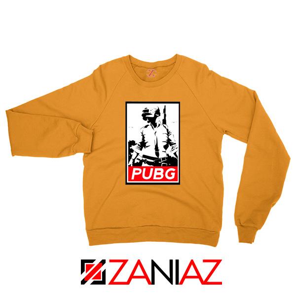 Best PUBG Printed Orange Sweatshirt