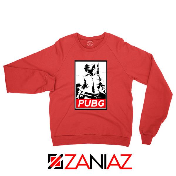 Best PUBG Printed Red Sweatshirt