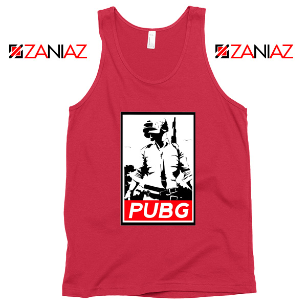 Best PUBG Printed Red Tank Top