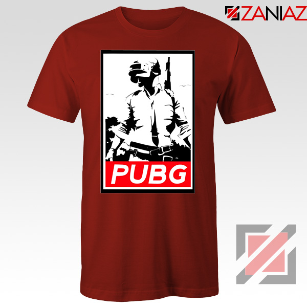 Best PUBG Printed Red Tshirt