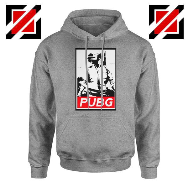 Best PUBG Printed Sport Grey Hoodie