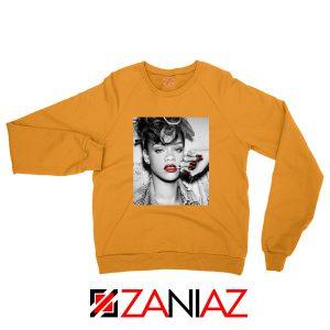 Best Rihanna Pop Singer Orange Sweater