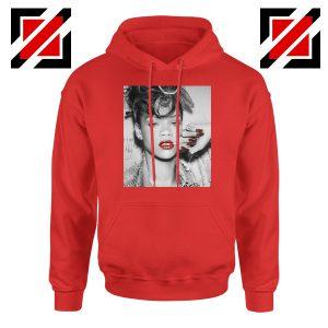 Best Rihanna Pop Singer Red Hoodie