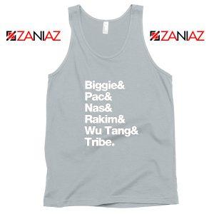 Biggie 2 Pac Nas Rakim Wu Tang Tribe Sport Grey Tank Top