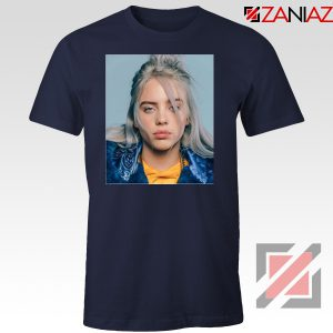 Billie Eilish Girl Star Navy Blue Tshirt