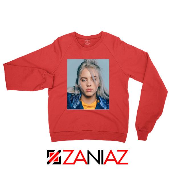 Billie Eilish Girl Star Red Sweatshirt