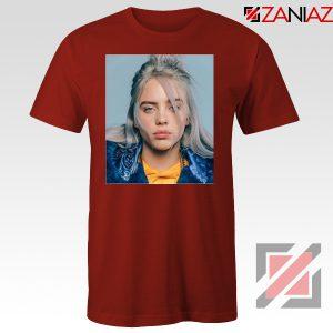 Billie Eilish Girl Star Red Tshirt