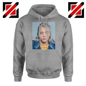 Billie Eilish Girl Star Sport Grey Hoodie