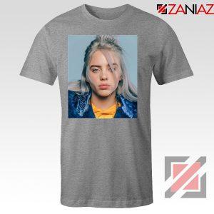 Billie Eilish Girl Star Sport Grey Tshirt