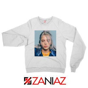 Billie Eilish Girl Star White Sweatshirt