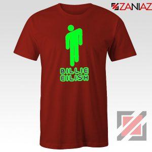 Billie Eilish Pop Singer Red Tshirt