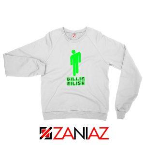 Billie Eilish Pop Singer White Sweatshirt