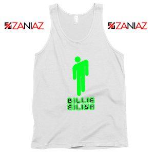 Billie Eilish Pop Singer White Tank Top