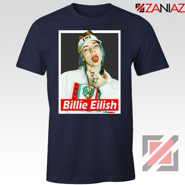 Billie Eilish Womens Navy Blue Tshirt